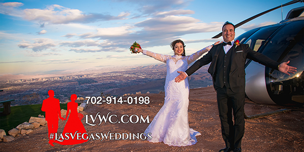 Red Rock Gazebo Helicopter Wedding