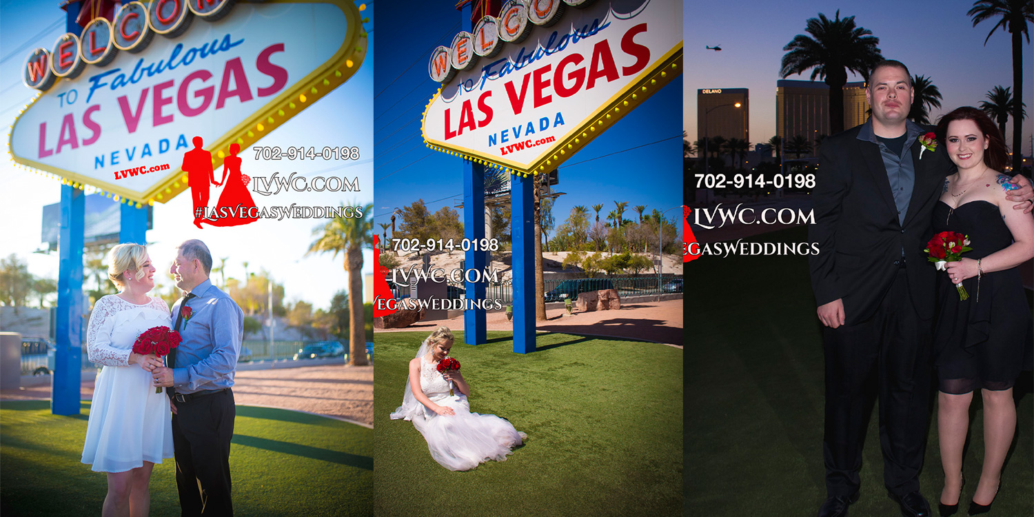 Las Vegas Welcome Sign Wedding