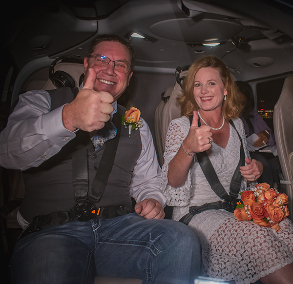 Helicopter Wedding over Las Vegas Strip