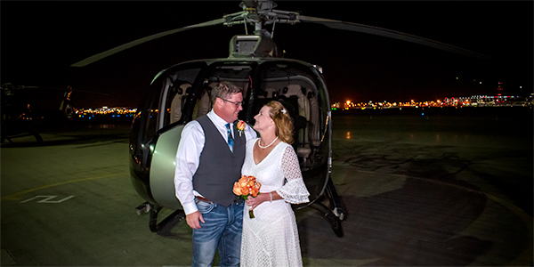 Las Vegas Strip Helicopter Wedding