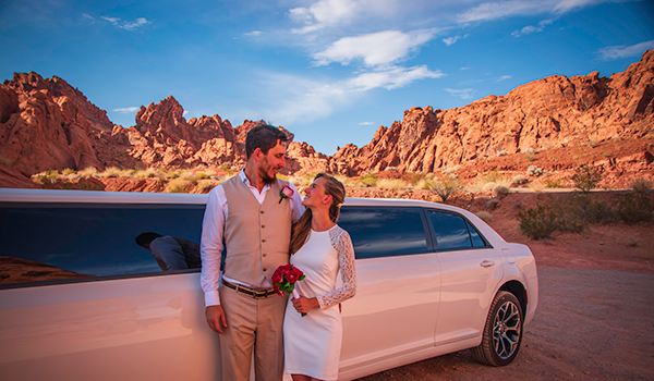 Valley of Fire Wedding Limousine
