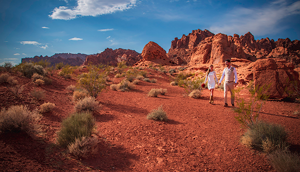 Valley of Fire Sunset Wedding Photos