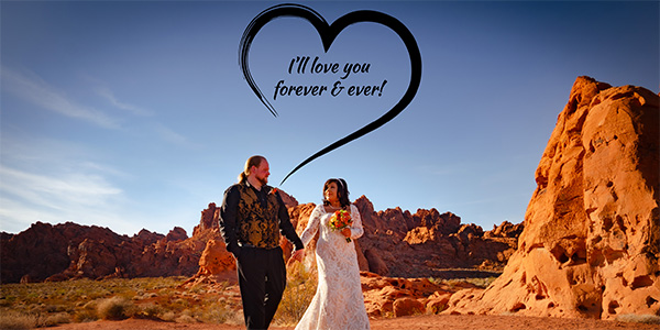 Valley of Fire Outdoor Wedding