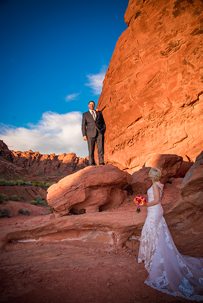 Valley of Fire Red Rocks Wedding Photos
